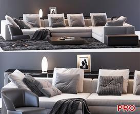 Sofa P52 3d model Download  Buy 3dbrute