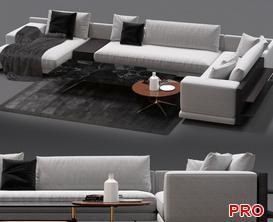 Mondrian Sofa P55 3d model Download  Buy 3dbrute