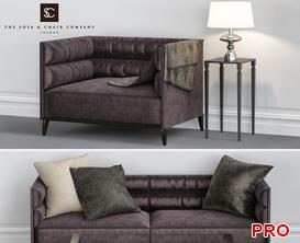 One and two seater   Sofa P78 3d model Download  Buy 3dbrute