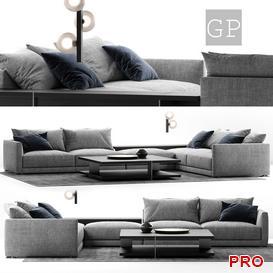 POLIFORM BRISTOL SOFA COMPOSITION   Sofa P87 3d model Download  Buy 3dbrute