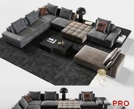 Minotti Lawrence Set 02 Sofa P100 3d model Download  Buy 3dbrute