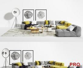 Tufty Sofa P111 3d model Download  Buy 3dbrute