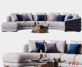 Carpanelli Contemporai Sofa P125 3d model Download  Buy 3dbrute