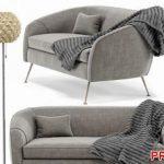 Stella Mid Century Loveseat Sofa P126