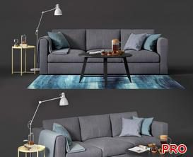 ikea vimle Sofa P144 3d model Download  Buy 3dbrute