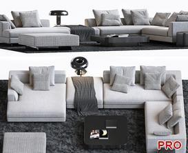 Sofa P159 3d model Download  Buy 3dbrute