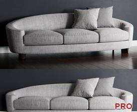 Baker ELLIPSE Sofa P174 3d model Download  Buy 3dbrute