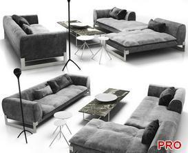 iso Viktor Sofa P177 3d model Download  Buy 3dbrute