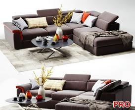 Viavicci Sofa P181 3d model Download  Buy 3dbrute