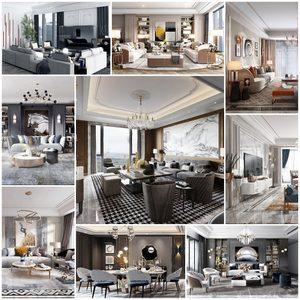 Sell Living room Post Modern 3d model vol 7 set