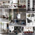 Sell Table and chair vol3 2019 - 3d model