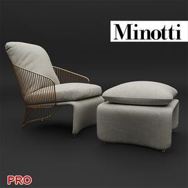 Minotti Colette 3d model Download  Buy 3dbrute