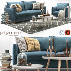 Sofa and Chair Chic 3d model Download  Buy 3dbrute