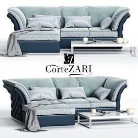 CorteZARI TIAGO Corner Sofa 3d model Download  Buy 3dbrute