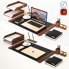 Classic Workplace with MacBook 3d model Download  Buy 3dbrute