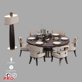 Dining set Dining  Table Set 1 3d model Download  Buy 3dbrute