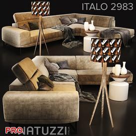 Sofa Natuzzi Italo 2983 3d model Download  Buy 3dbrute