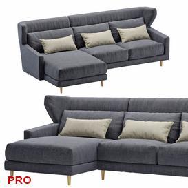 Sofa corner folk 3d model Download  Buy 3dbrute