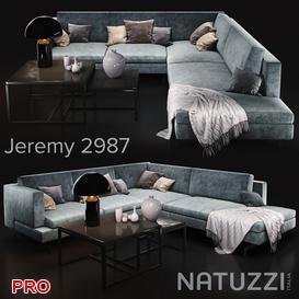 Sofa Natuzzi Jeremy 3d model Download  Buy 3dbrute