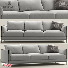 Sofa Trussardi Casa Band Sofa 3d model Download  Buy 3dbrute