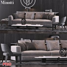 Minotti Set 11 3d model Download  Buy 3dbrute