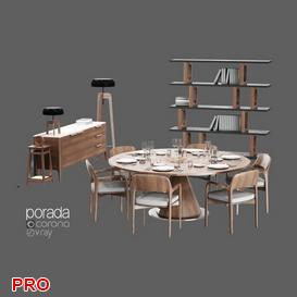 Dining  Table Set 3 3d model Download  Buy 3dbrute