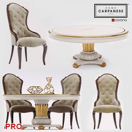 Carpanese  Dining  Table Set 4 3d model Download  Buy 3dbrute