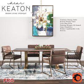Keaton Dining Set 5 3d model Download  Buy 3dbrute