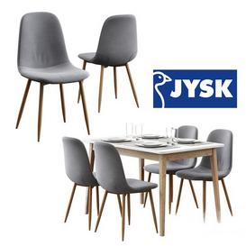 Jysk   Jonstrup Chair   Gammelgab Table 3d model Download  Buy 3dbrute