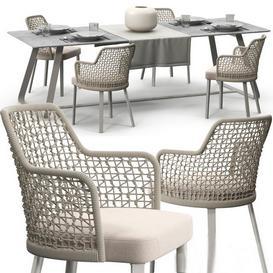 Varaschin Emma chair set 3d model Download  Buy 3dbrute
