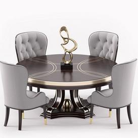 Everly dinning set 3d model Download  Buy 3dbrute