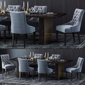 Restoration Hardware Table and Chair 3d model Download  Buy 3dbrute