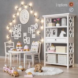 Toys and furniture 2 options set 22 3d model Download  Buy 3dbrute
