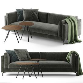Calligaris Danny sofa and Calligaris Tweet coffee tables LT 3d model Download  Buy 3dbrute