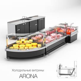 Refrigerated display cases ARONA LT 3d model Download  Buy 3dbrute
