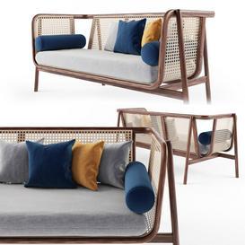 Cane sofa LT 3d model Download  Buy 3dbrute