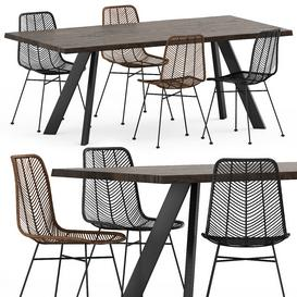 BLOOMINGVILLE LENA  RAW DINING TABLE LT 3d model Download  Buy 3dbrute