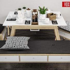 Decorative set of table  VOX  Spot LT 3d model Download  Buy 3dbrute