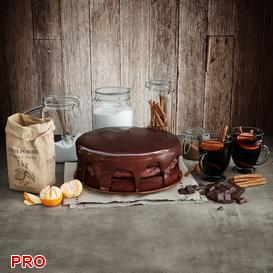 Chocolate Cake 3d model Download  Buy 3dbrute