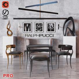 Dining Set 1 3d model Download  Buy 3dbrute