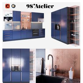 98'Atelier Kitchen 3d model Download  Buy 3dbrute