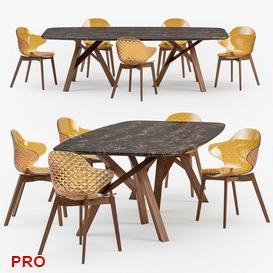 Jungle table Saint Tropez wood chair 6 3d model Download  Buy 3dbrute