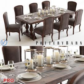 lorraine callahan Dining Set 12 3d model Download  Buy 3dbrute