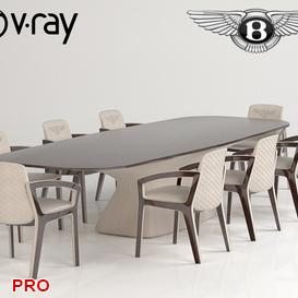 Belgravia Dining Set 13 3d model Download  Buy 3dbrute