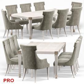 Hayley Hollywood Dining Set 25 3d model Download  Buy 3dbrute