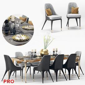 Visionnaire Palmyra Dining Set 26 3d model Download  Buy 3dbrute