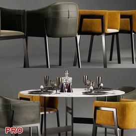 Polo Grace Dining Set 29 3d model Download  Buy 3dbrute