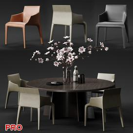 SEATLE Dining  Table Set 66 3d model Download  Buy 3dbrute