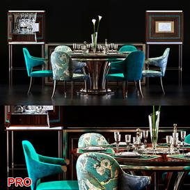 Zanaboni Dining  Table Set 76 3d model Download  Buy 3dbrute