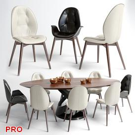 sorrento stol Dining  Table Set 26 3d model Download  Buy 3dbrute